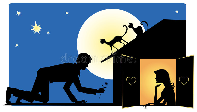 Download Waiting for Valentine stock vector. Illustration of night - 771553