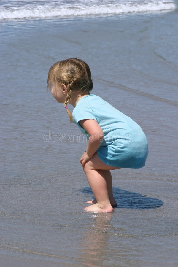 Waiting for the wave stock photography
