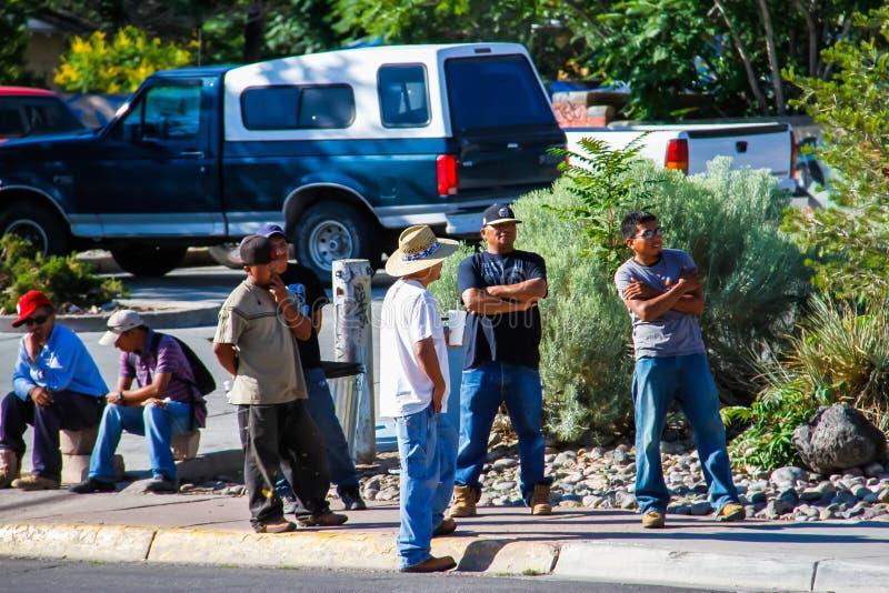 Waiting For Work stock photos