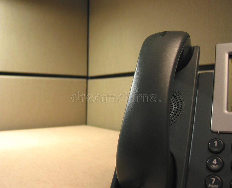 Waiting for your calls (IP phone on desk) royalty free stock photography