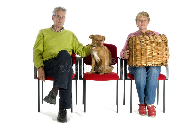 Waitingroom Tierarzt stockfotografie