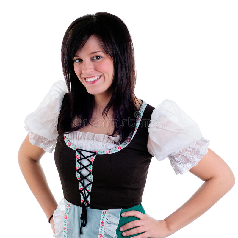 Download Waitress stock photo. Image of happy, dirndl, brunette - 9736742