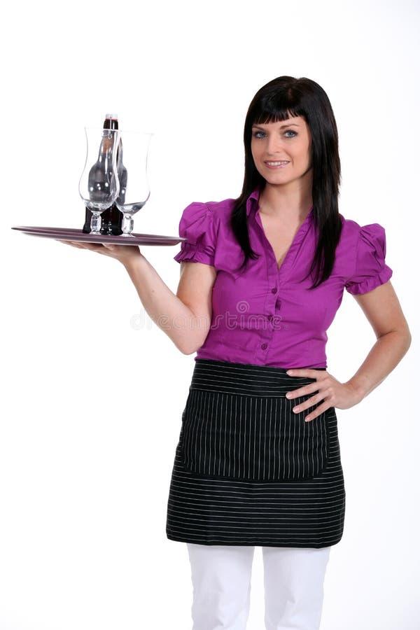 Waitress royalty free stock photography