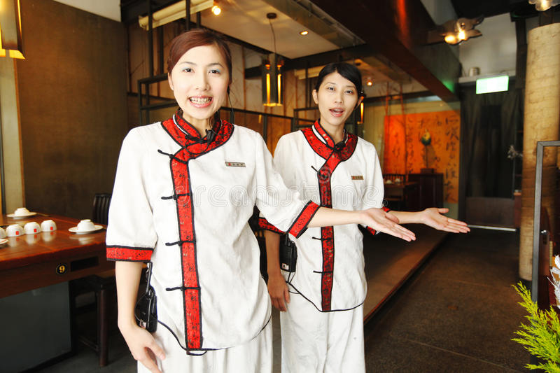 Waitress in Chinese style