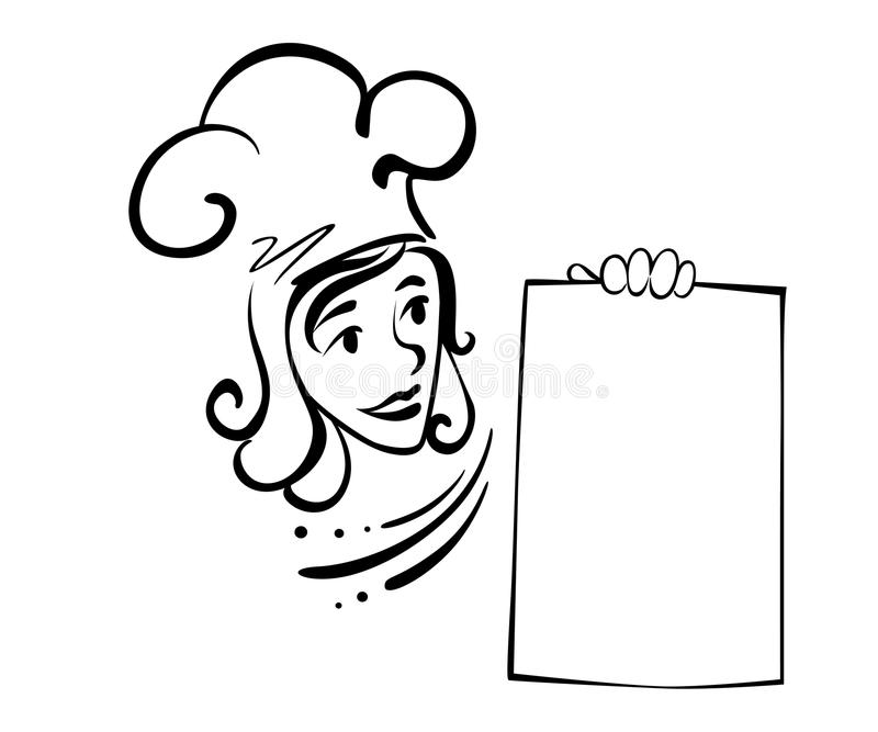 Download Waitress with menu stock vector. Illustration of concept - 26446028