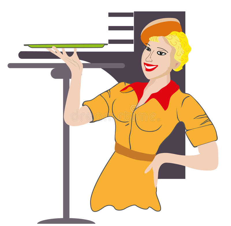 Download Waitress. Profession. stock vector. Image of work, serve - 28056401