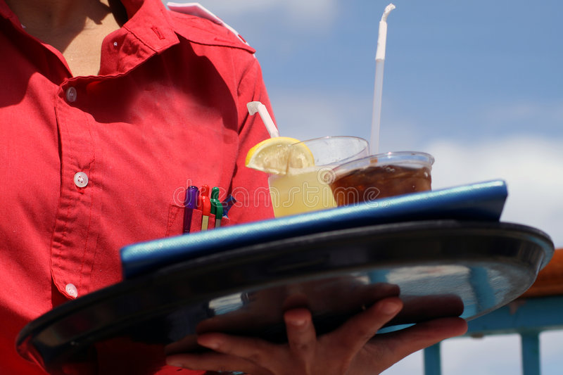 Download Waitress with two drinks stock image. Image of ship, alcohol - 2829421