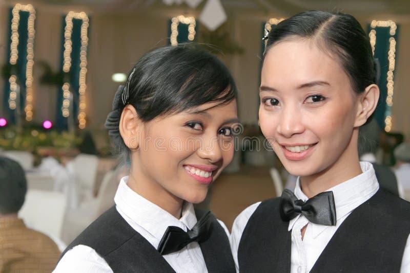 Download Waitress in uniform stock image. Image of sweet, server - 7498285