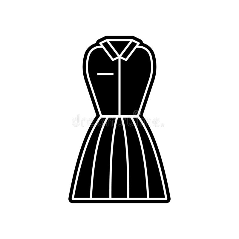 waitress Uniform clothes woman dresses icon. Element of clothes for mobile concept and web apps icon. Glyph, flat icon for website vector illustration