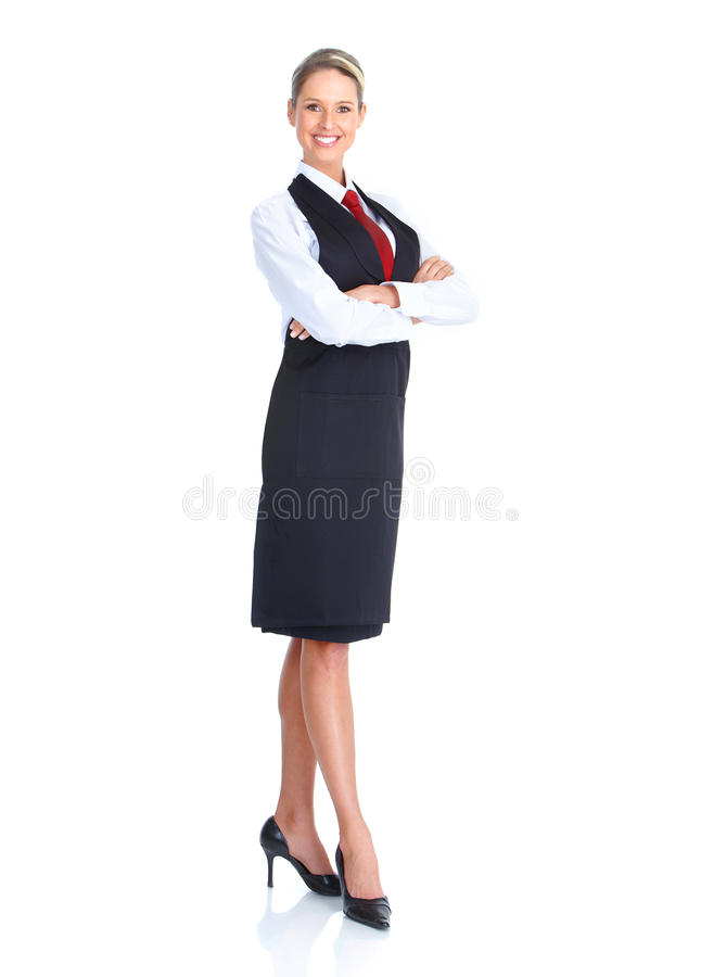 Waitress woman royalty free stock photos