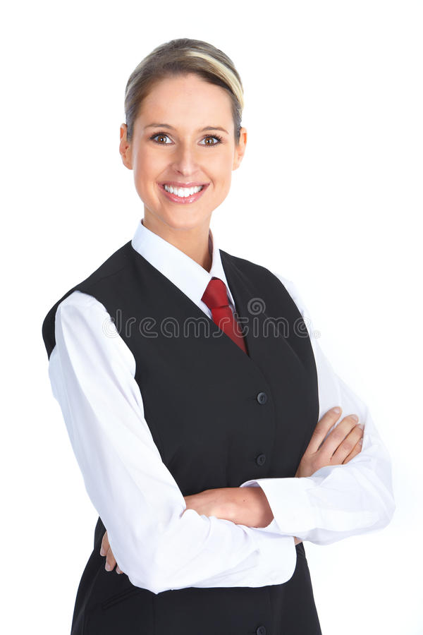 Waitress woman stock photos