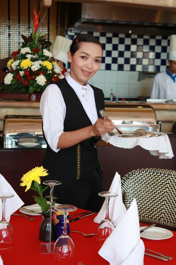 Waitress At Work Royalty Free Stock Images