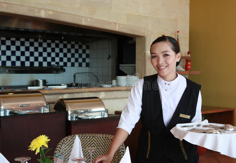 Download Waitress at work stock photo. Image of catering, person - 10887530