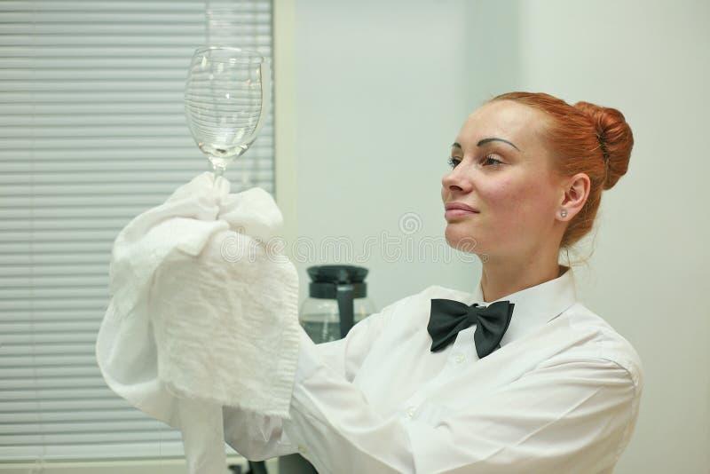 A waitress working stock photo