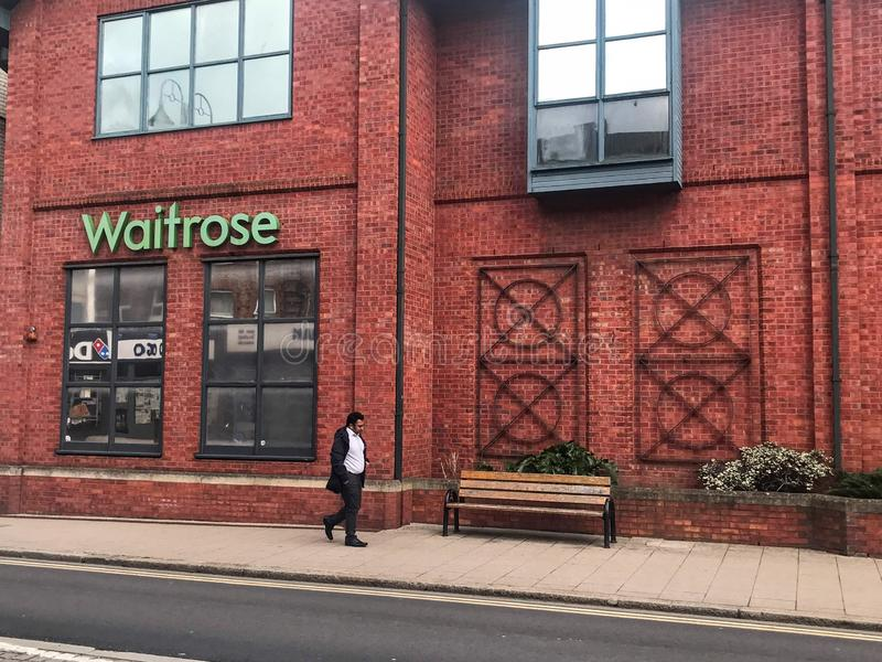 Waitrose shoppar, london royaltyfria foton