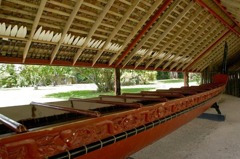 Waka - canoa maori da guerra foto de stock