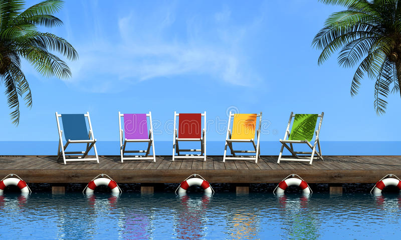 wakacje royalty ilustracja