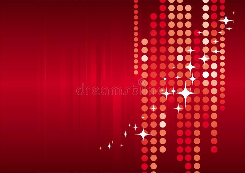 wakacje czerwone tło royalty ilustracja