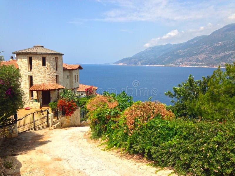 Wakacje dom na zatoce Kash zdjęcia royalty free