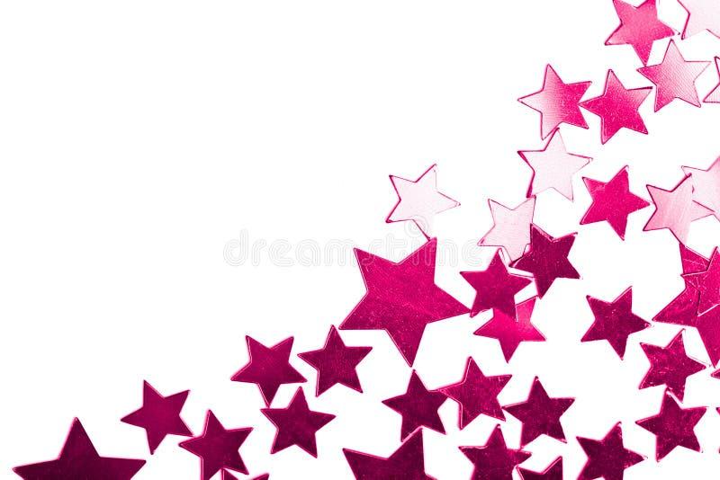 wakacje gwiazdy odosobnione purpurowe fotografia stock