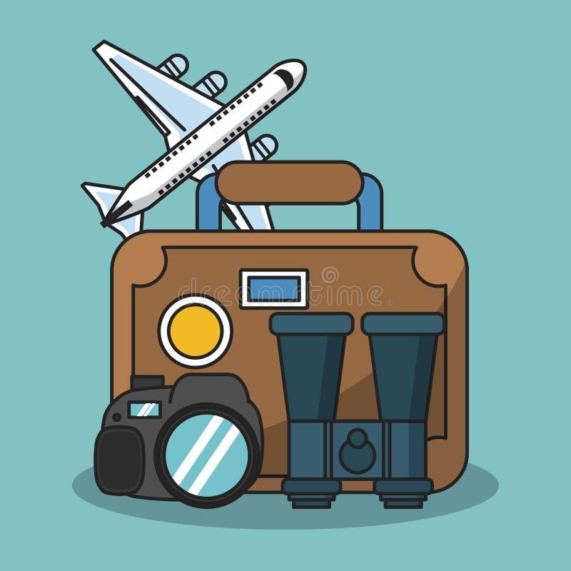 Wakacje i podróż ilustracja wektor
