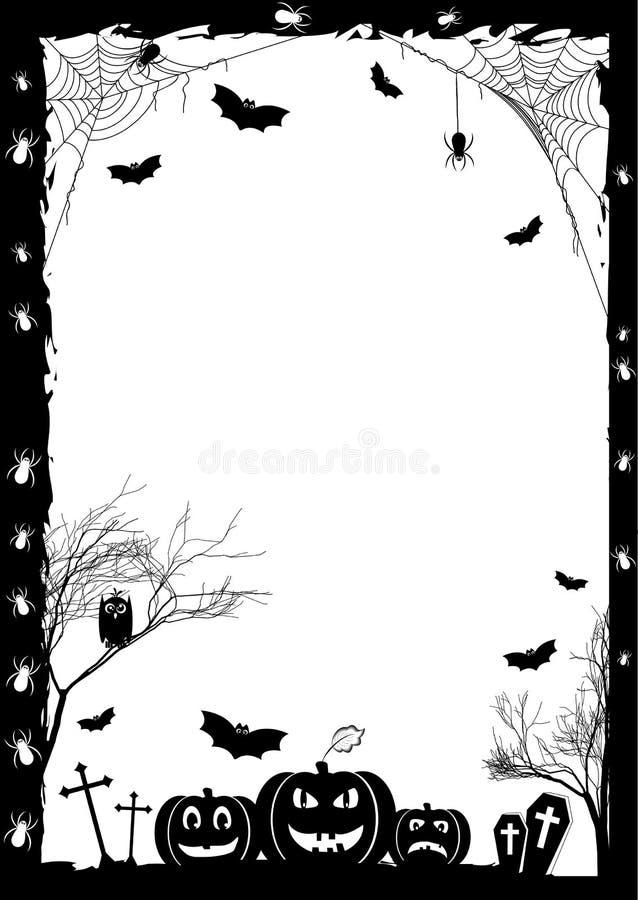 Wakacje karta na temacie Halloween royalty ilustracja