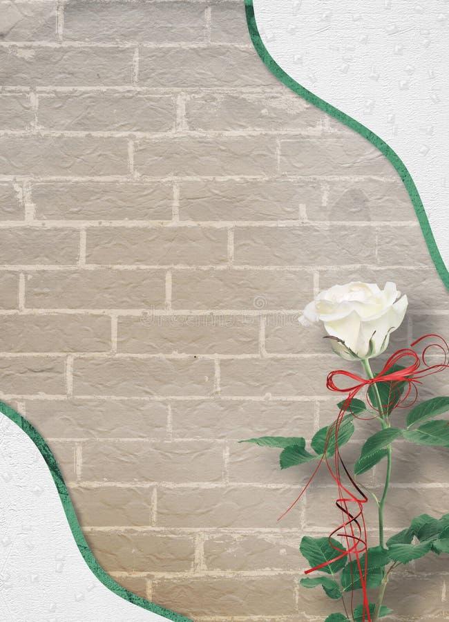 Wakacje karta z pięknymi różami i łęk dla fotografii dla zaproszenia royalty ilustracja