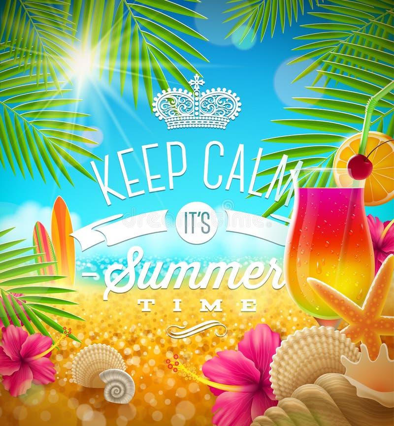Wakacje letni powitanie ilustracji
