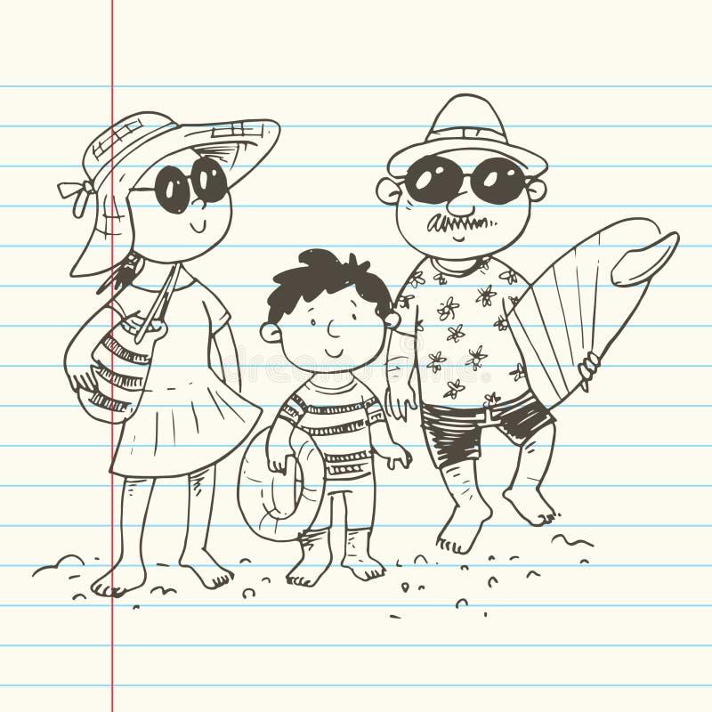 Wakacje letni wektor royalty ilustracja