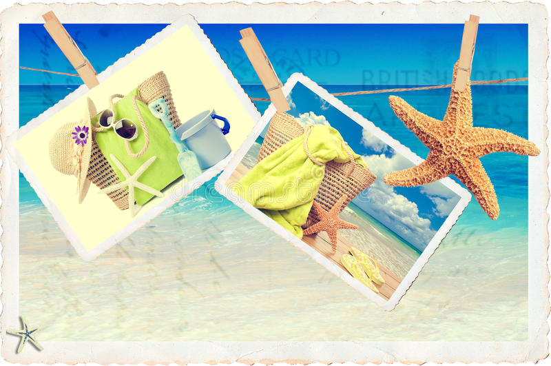 Lato pocztówki fotografia royalty free