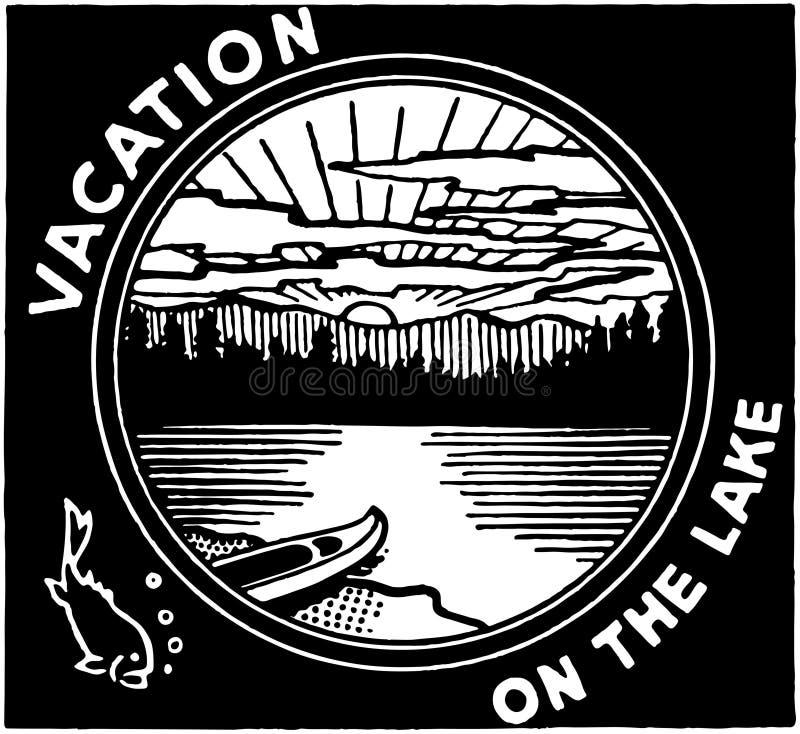Wakacje Na jeziorze ilustracji