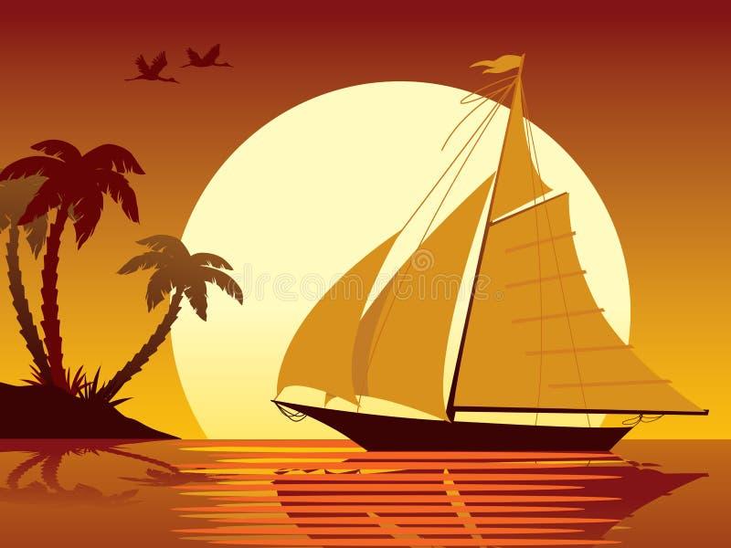 wakacje płynąć ilustracja wektor