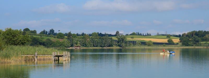 Wakacje przy jeziornym Pfaffikon, Zurich kanton obraz royalty free