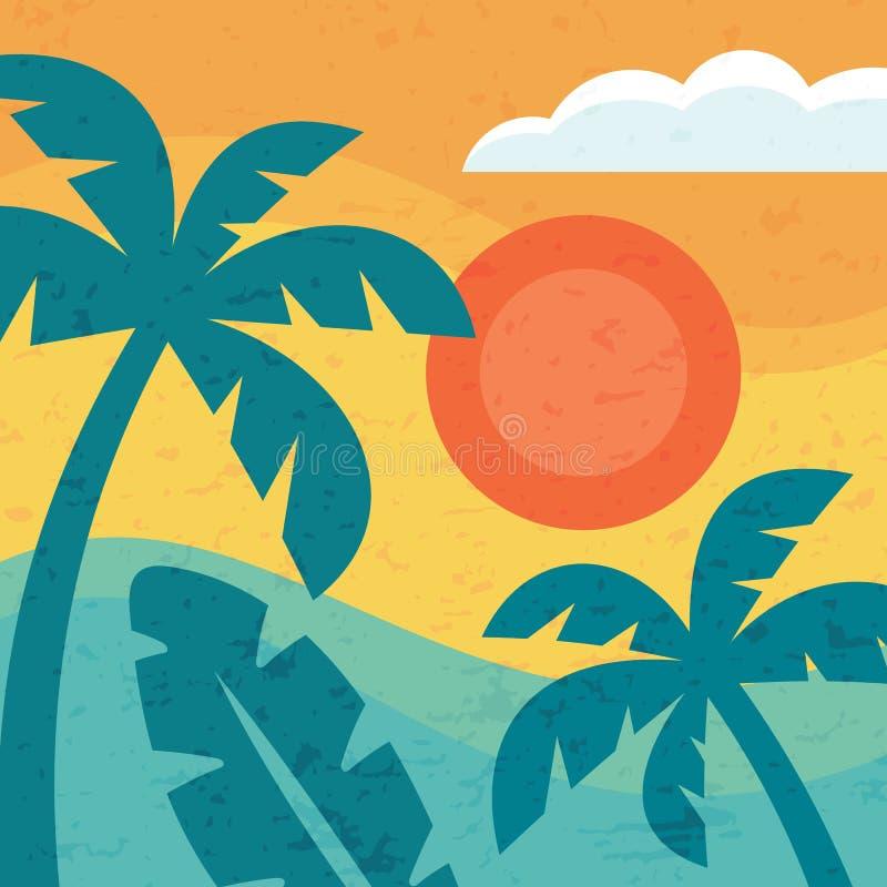 Wakacje raj - pojęcia tło dla sztandaru, plakat, broszurka, prezentacja wektorowy ilustracyjny graficzny projekt ilustracji