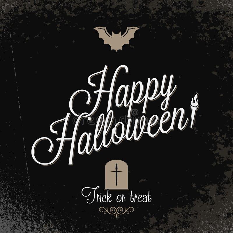 Wakacje - ramowy szczęśliwy Halloween ilustracja wektor