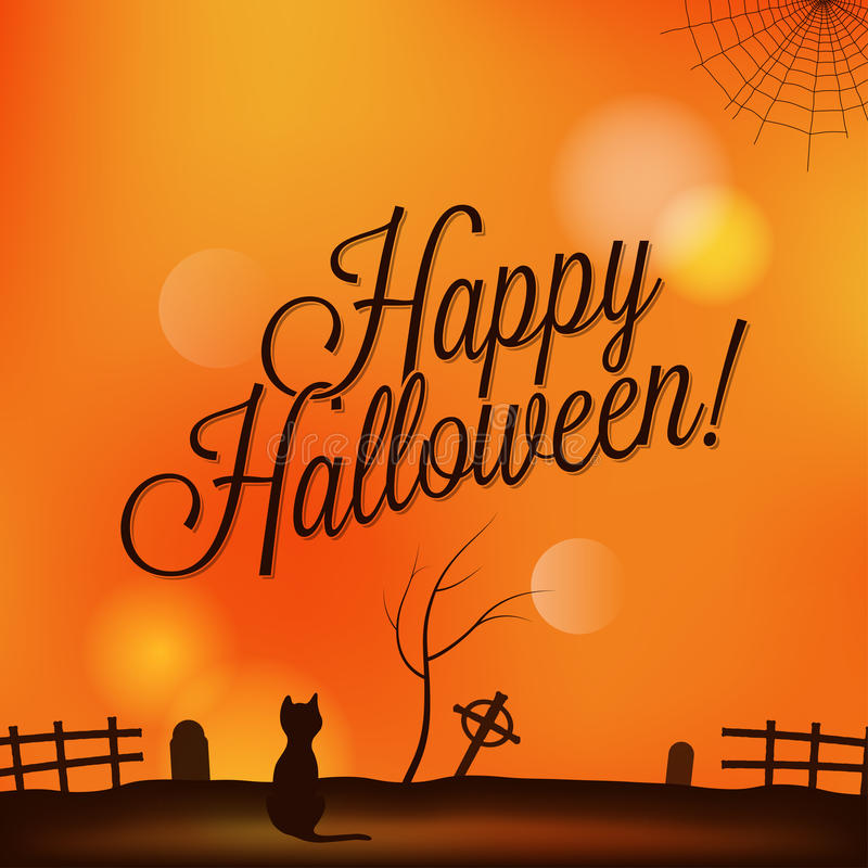 Wakacje - ramowy szczęśliwy Halloween royalty ilustracja