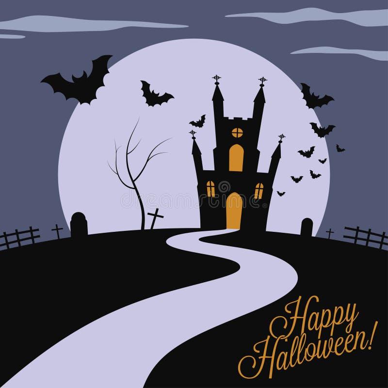 Wakacje - ramowy szczęśliwy Halloween ilustracji
