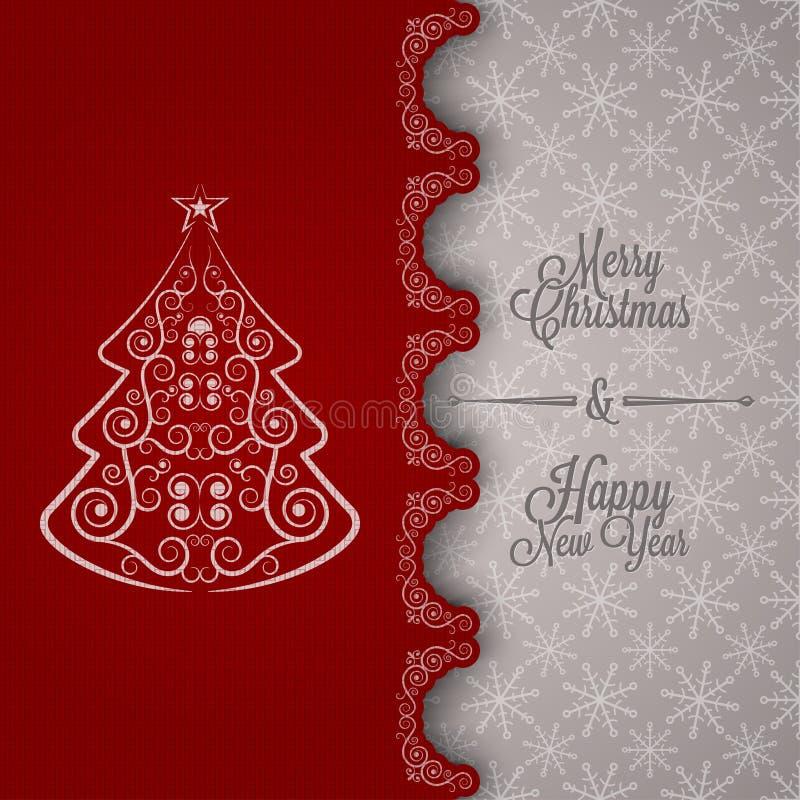 Wakacje - ramowy szczęśliwy wesoło bożych narodzeń nowy rok royalty ilustracja