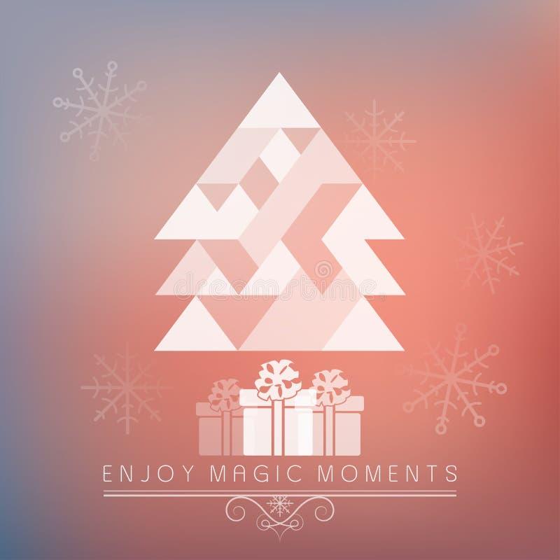 Wakacje - ramowy szczęśliwy wesoło bożych narodzeń nowy rok ilustracja wektor