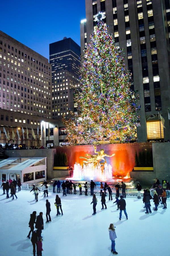 Wakacje Rockefeller centrum 2012 zdjęcie stock