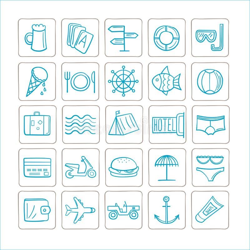 Wakacje - set ikony jest może projektant wektor evgeniy grafika niezależny kotelevskiy przedmiota oryginałów wektor Srebro kolor ilustracja wektor