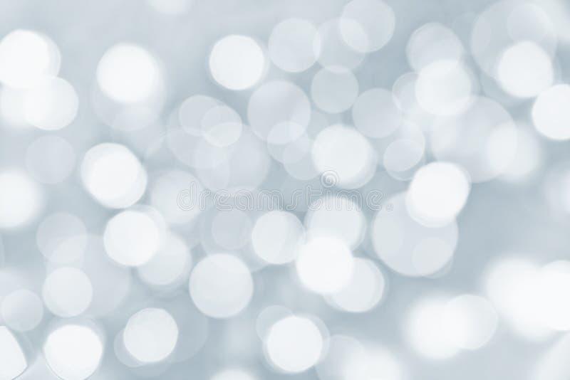 Wakacje srebny tło z zamazanymi światłami fotografia royalty free