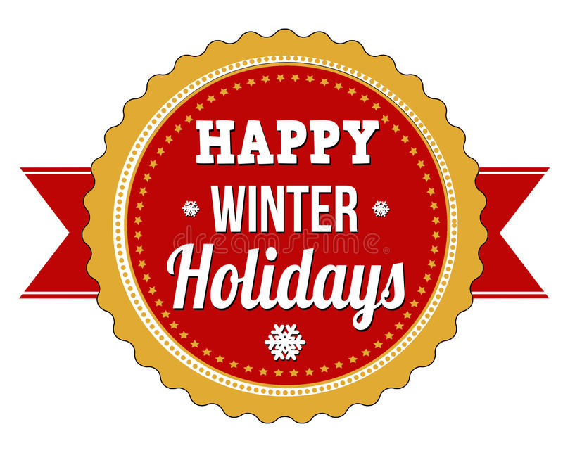 wakacje szczęśliwa zima ilustracja wektor