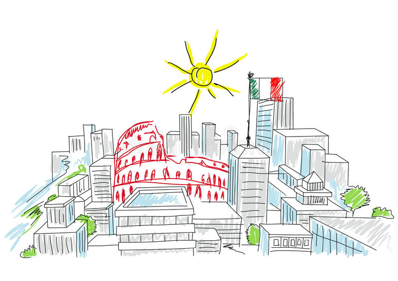 Wakacje w Italy ilustracji