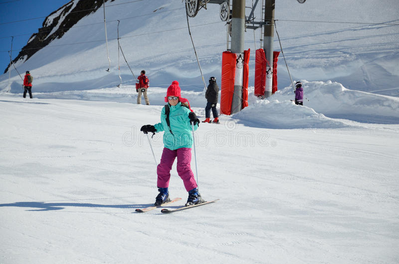 Wakacje w zim górach zdjęcie royalty free