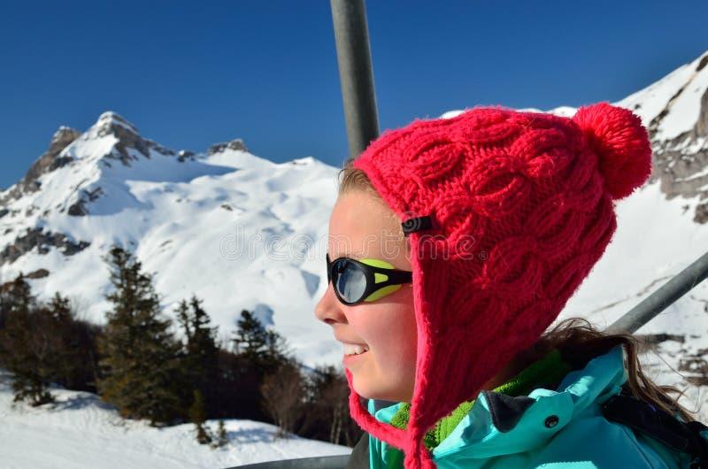 Wakacje w zim górach obrazy royalty free