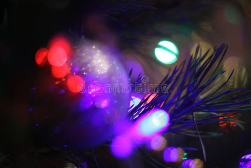 Wakacji światła wokoło ciebie, nowy rok dekoracja fotografia stock