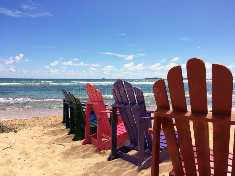 Wakacji Letnich Plażowi krzesła obraz stock