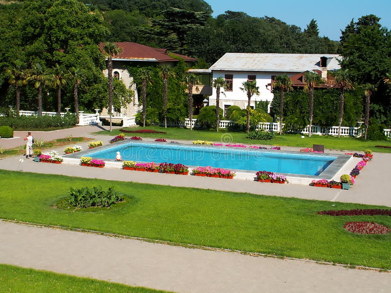 wakacyjna basen willa zdjęcie royalty free