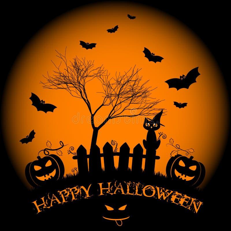 Wakacyjna ilustracja na temacie Halloween Życzenia dla Szczęśliwego Halloween sztuczka przysmaki ilustracji
